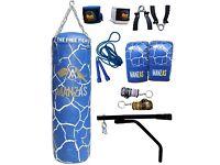 ManzAs BLACK ROCkS 12 Piece 3FT-4FT Set Heavy Filled Punch Bag Gloves