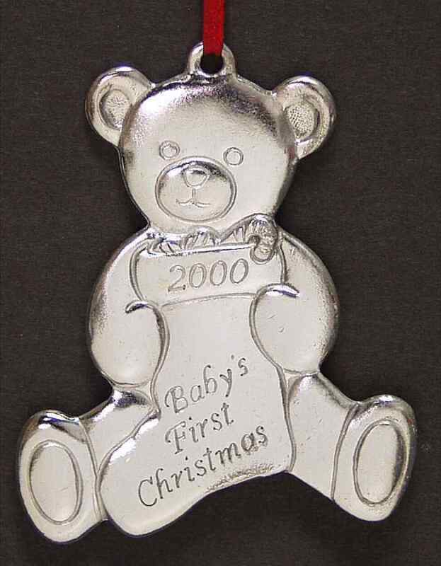 Reed & Barton BABYS FIRST CHRISTMAS Ornament 2000