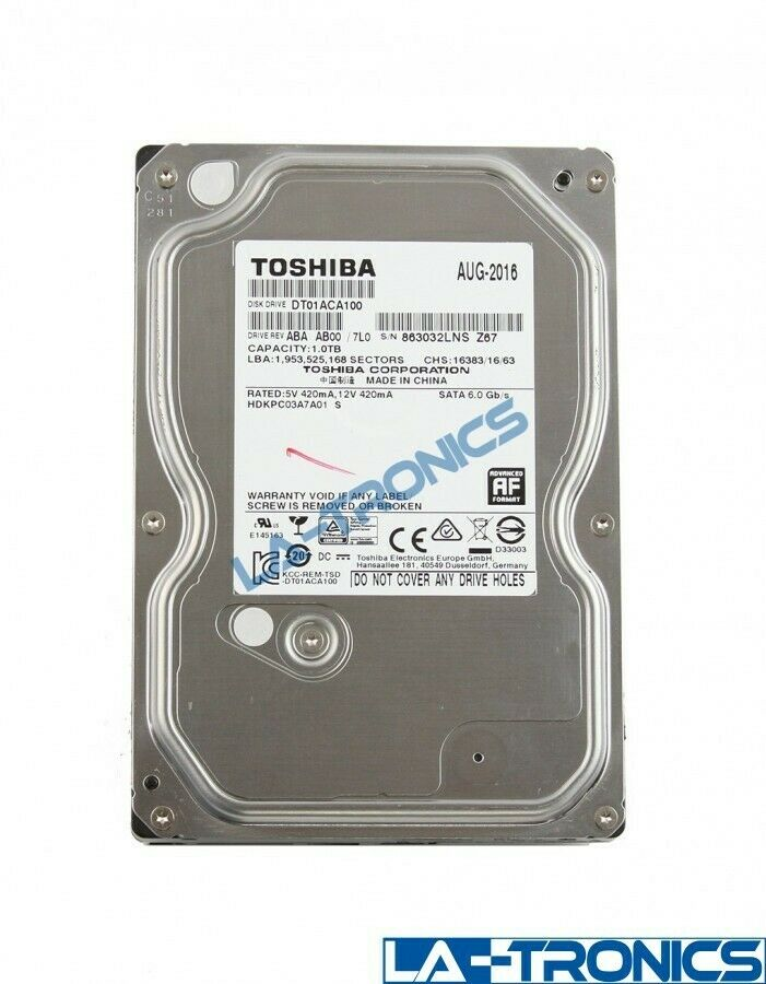 Toshiba 1TB 7200RPM Internal 3.5
