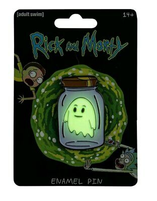 Rick and Morty - Ghost in a Jar Glow-in-the-Dark Enamel