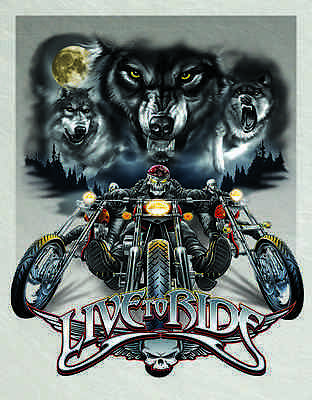 """Tin Sign """"Live to Ride-Wolves """" Motorcycles Harley Garage METAL Wall Art"""