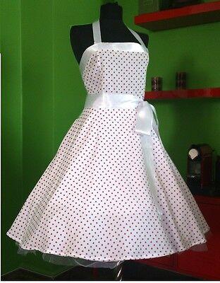 50er Rockabilly Gr. 44,46,48 Petticoat Retro Tanz Kleid P121rot Räumungsverkauf