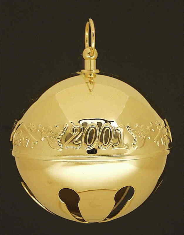Wallace Silver Sleigh Bell-Goldplated Ornament Christmas Characters - Boxed