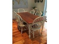 Laura Ashley Bramley Dining Table + 2 Carver Chairs + 4 Chairs Mint Condition