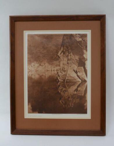 "Edward S. Curtis, Quiet Waters - Yurok, Photogravure on Tissue 16 1/4"" x 12 1/4"""