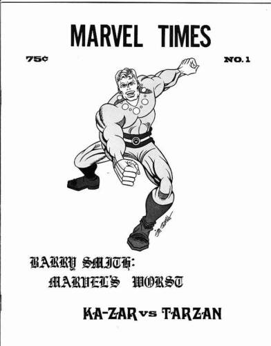 MARVEL TIMES #1 - 1972 comics fanzine, Ghost Rider B&W advance promotional cover