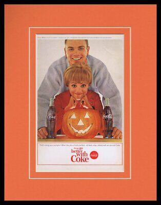 1964 Coca Cola Halloween Framed 11x14 ORIGINAL Vintage Advertisement](Coca Cola Halloween Advertising)