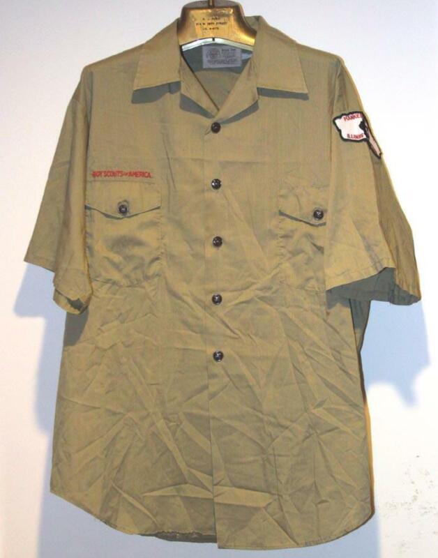 Vintage Boy Scouts BSA Summer Short Sleeve Uniform Shirt Adult Large  #1
