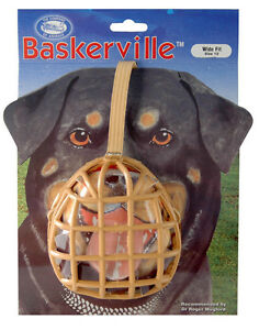 Baskerville-Dog-Puppy-Muzzle-ALL-SIZES-FULLY-ENCLOSED-BASKET-MUZZLE