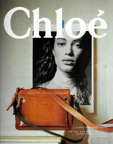 CHLOE 1-Page Magazine PRINT AD Spring Summer 2018 SOPHIE KOELLA