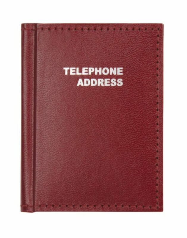 "Office Depot® Brand Vinyl Small Pocket Telephone/Address Book, 3"" x 4"