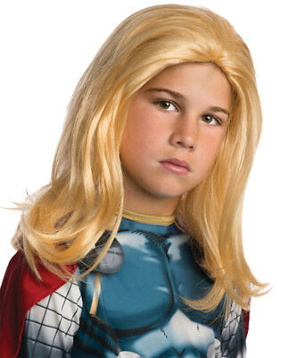 Thor Child Wig Superhero Rubies 53051 Blonde Boys Hair Theme Party Halloween
