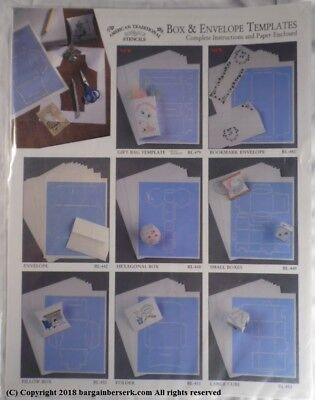 NEW AMERICAN TRADITIONAL STENCILS LARGE CUBE BOX & ENVELOPE TEMPLATES MW212 Large Envelope Template