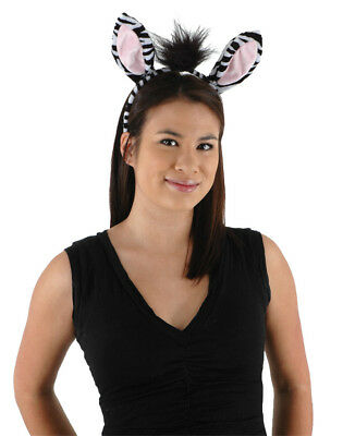 ZEBRA COSTUME KIT Ears Tail Headband Adult Child Kids Halloween Accessory](Zebra Costume Adult)