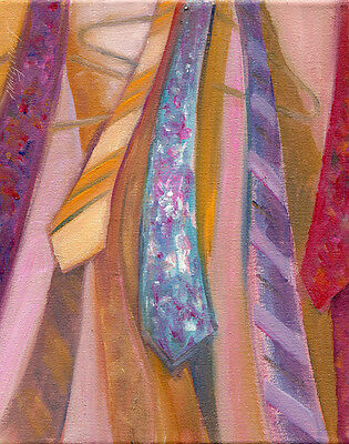 Neckties 10x8 in. Oil on stretched canvas Hall Groat Sr.