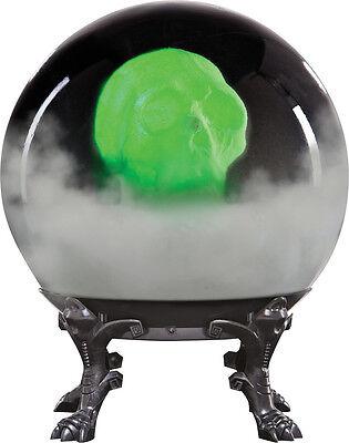 HALLOWEEN SPIRIT CRYSTAL BALL  SKULL ANIMATED PROP DECORATION HAUNTED HOUSE - Spirit Halloween Crystal Ball