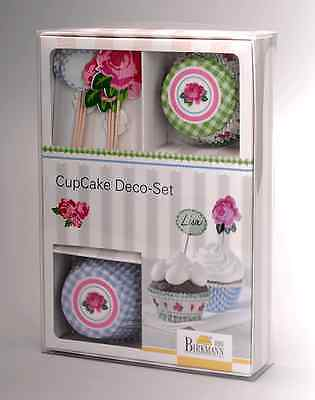 RBV Birkmann 36er Deko Set Papierbackförmchen maxi Rose - Vintage (Rose Papier-backförmchen)