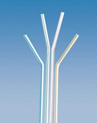 1000 Flexi-Trinkhalme bunt D:5mm L:24cm Strohhalm Slush