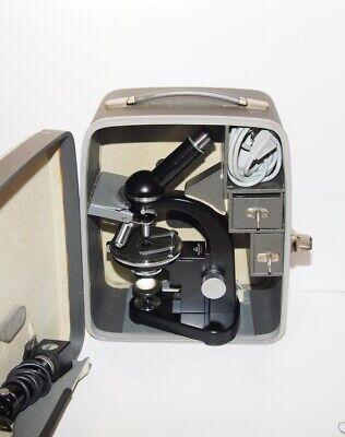 Leitz Sm-pol Polarizing Microscope With Carrying Case