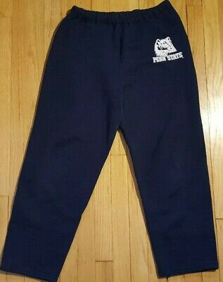 Vintage RUSSELL ATHLETIC sweatpants M Penn State Nittany Lions navy blue 90s