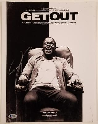 Jordan Peele Signed Get Out 11X14 Photo Director Writer Oscar D Beckett Bas Coa