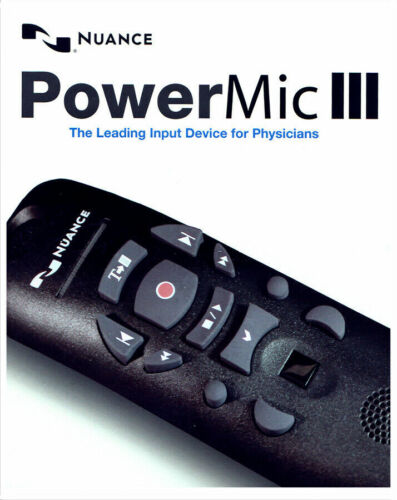 Nuance PowerMic III Microphone - 9 ft. Cord 0POWM3N9