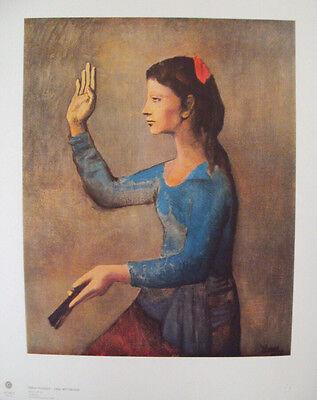 NEU- PICASSO -Motiv: Frau mit Fächer hochwertiger LICHTDRUCK Kunstdruck -Rarität