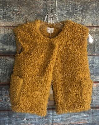 Wolf & Rita Girls Vest Size 6 Nwt