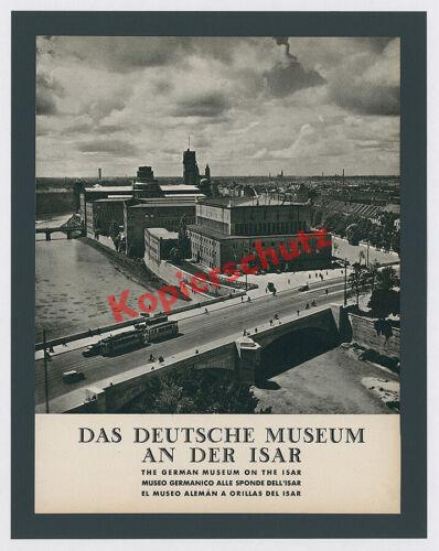 Dr. Paul Wolff München Ludwigsbrücke Straßenbahn Isar Auto Deutsches Museum 1939