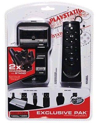 MAD CATZ PS3 EXCLUSIVE PAK stazione di ricarica + telecomando + cavi ps3