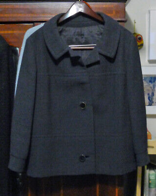 Vintage Lined Wool Jacket circa 1960s: Jackie O. style--Medium