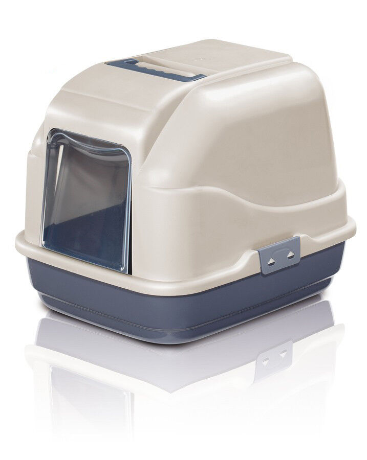 Cat Toilet My Cat Wc Covered Litter Tray Closed XXL Jumbo Blue