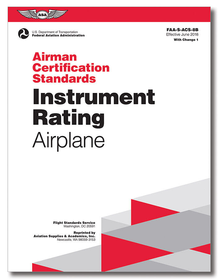 acs asa instrument rating airplane airman certification standards test prep 8b pilot oral exam package mypilotstore effective