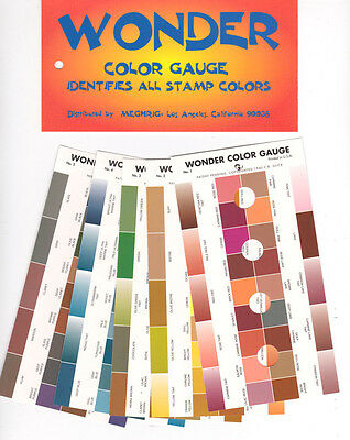 WONDER COLOR GAUGE / GUIDE  ID VARIATIONS IN STAMP COLORS      #MEG-WCG