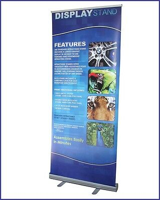 33.5x79.5 Roll Up Retractable Banner Stand Free Printing Trade Show R160