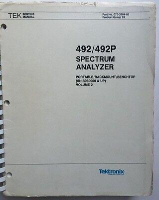 Tektronix 492492p Service Manual Vol 2 Pn 070-3784-01 Rev Sep 1984