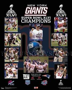 New York Giants Super Bowl 46 Championship Picture Plaque