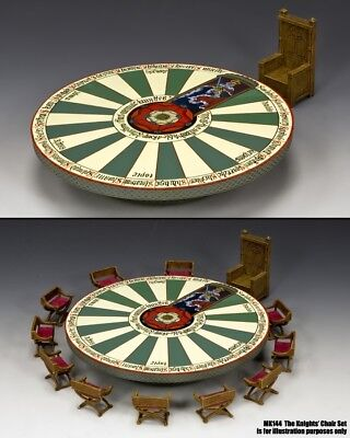 KING & COUNTRY MEDIEVAL KNIGHTS MK143 THE ROUND TABLE & KINGS CHAIR SET MIB](Medieval Table Setting)