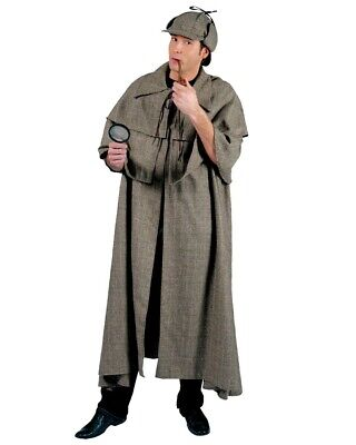 Sherlock Holmes Cape (Sherlock Holmes Complete Costume Inverness Cape Hat and Pipe Detective)