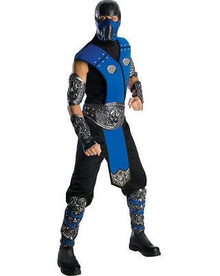 Mortal Kombat Sub Zero Deluxe Mens Costume Size STD - Sub Zero Deluxe Costume