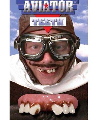 BILLY BOB AVIATOR fake buck TEETH costume JOKE funny Gag Comedy trick magic