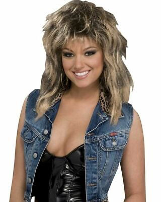 Rock Star Groupie Halloween Costume (Groupie Wig 80's Layered Spice Rock Star Costume Accessory Prop Adult Women)