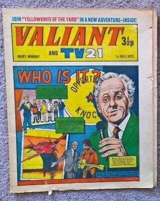 1 x Valiant and Lion comic - Dated 01/07/1972