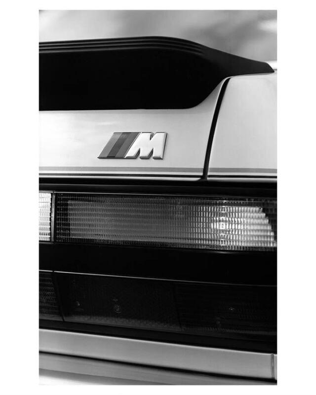 1986 BMW M535i Rear View Automobile Photo Poster zu2839-6BQMPX