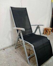 Home Malibu Metal Recliner Chair - Black No080703