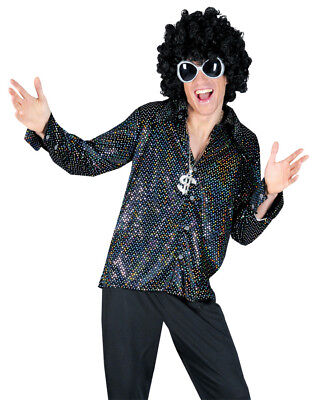 Boogie Night Shirt Adult Men's Costume Stretch Shirt - Boogie Nights Kostüme