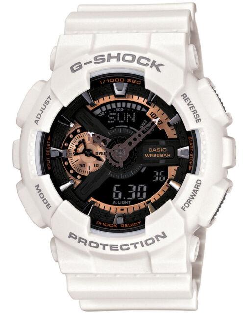 G-Shock Mens White & Rose Gold Watch. BESTSELLER. Look Smart. GA110RG-7A