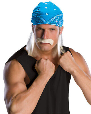 Hulk Hogan Bandana Wig And Moustache One Size](Hulk Hogan Wig)