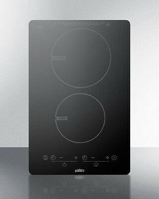 Summit SINC2B120 Induction Cooktop Built-in Freestanding Portable 2 Burner 120V