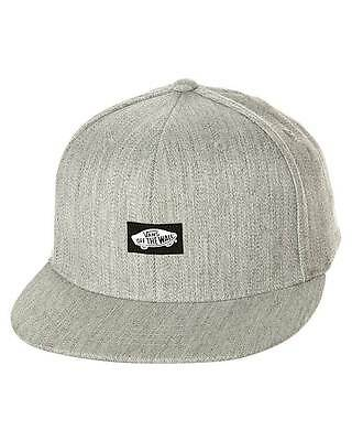 Vans Off The Wall Heel Scab Flexfit Mens Gray Ball Hat Cap Wool Flex Fit NWT